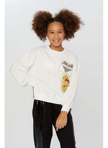 Little Star Little Star Kız Çocuk Baskılı Sweatshirt Krem